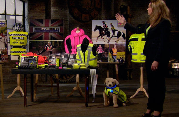 Nicky Fletcher and her hi-vis clothing and accessory range.