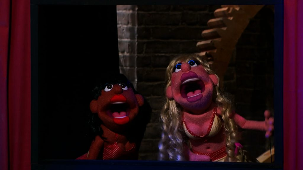 Puppet Characters performing